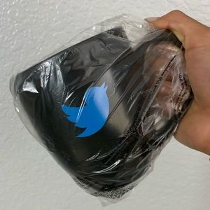 Twitter Bird Black Coffee Drinking Mug NWT